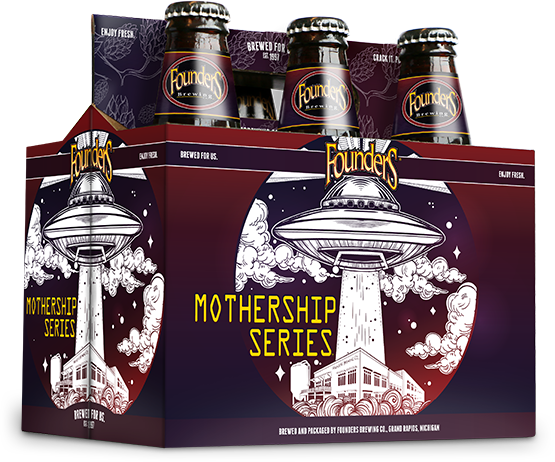 Image of the Mothership Series beer six-pack