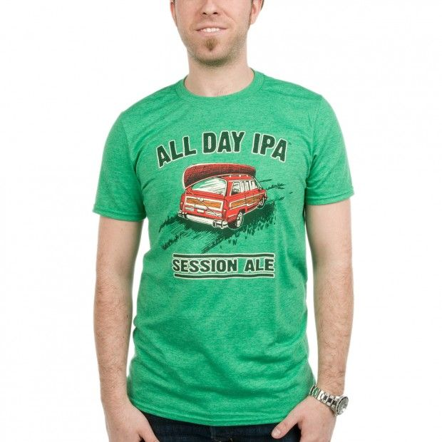 Founders All Day IPA Session Ale green shirt