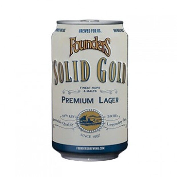 Can of Founders Solid Gold