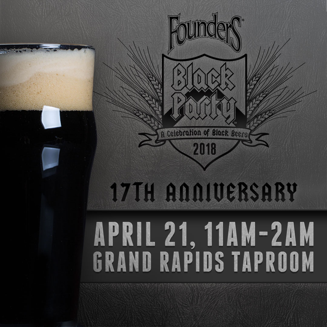 Founders Black Party event poster