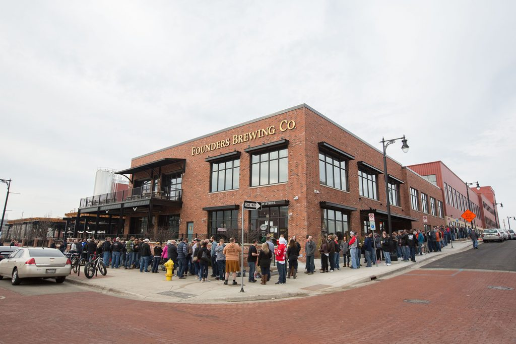 Exterior of Founders Brewing Co.
