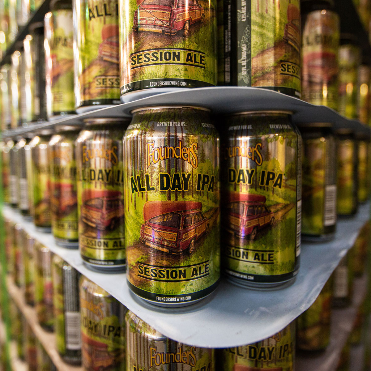 Cans of Founders All Day IPA