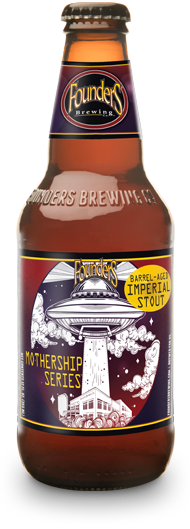 Bottle of Founders Mothership Series Barrel Aged Imperial Stout