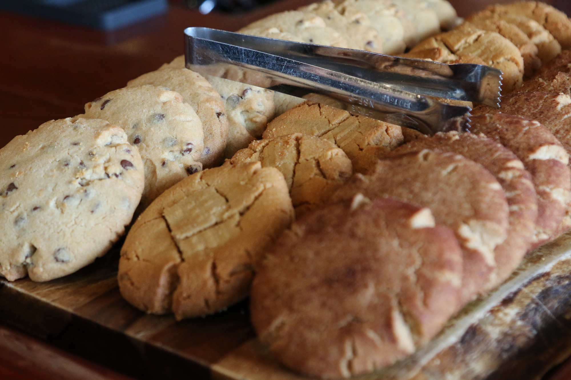 Variety of baked cookies