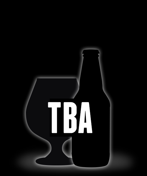To be announced beer bottle and beer glass