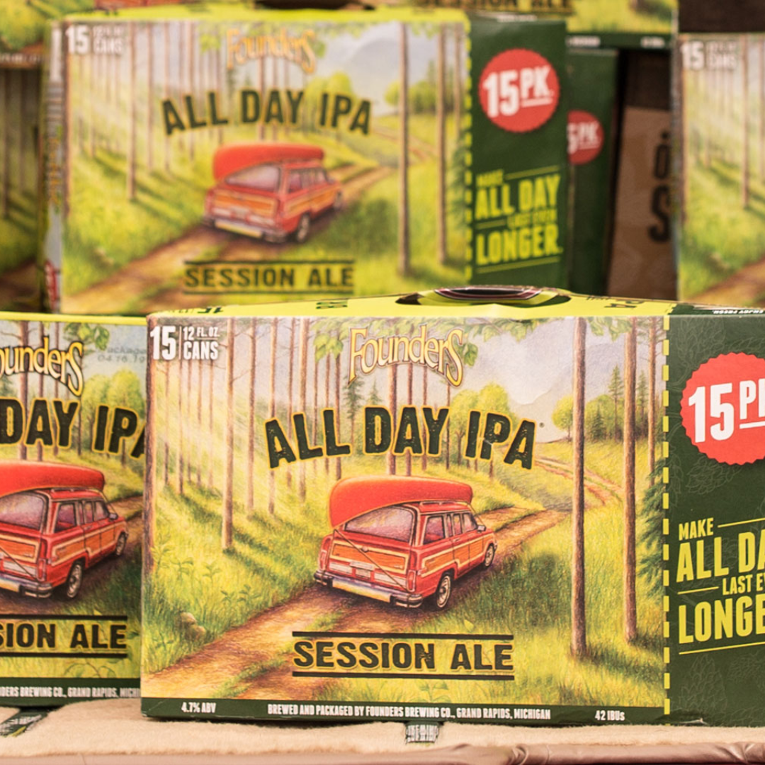 15 packs of Founder's All Day IPA