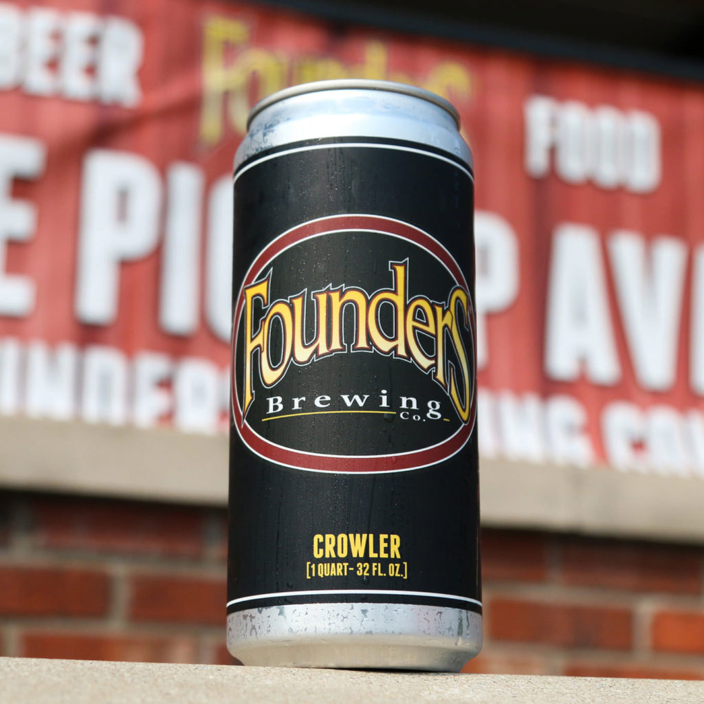 Crowler with Founders logo label